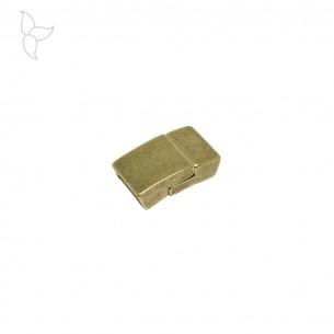 Cierre rectangular curvado tira 10 mm oro viejo.