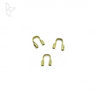 Cavalier protège fil doré pour fil métallique 0.56mm.