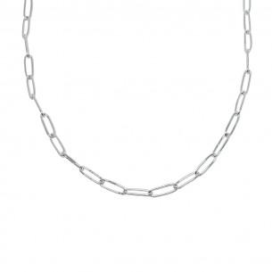 Cadena fina eslabon rectangular redondeado