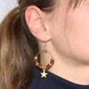 Anneau pour boucle d'oreille 30mm doré