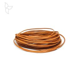 Brown Camel round leather 1.5 mm