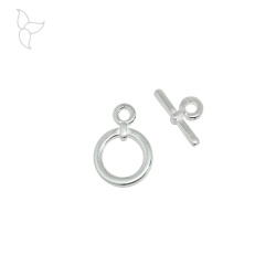 Toggle clasp 17 mm silver plated.