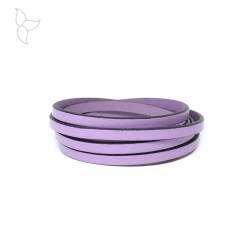 Lilac flat leather 5mm