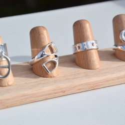 wood ring display