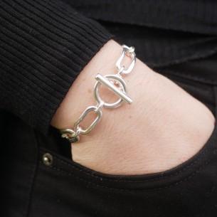 Bracelet chaîne ronde & toggle