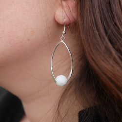 Set of O-shaped earrings