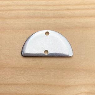Intercalaire demi-lune plaqué argent 10 microns