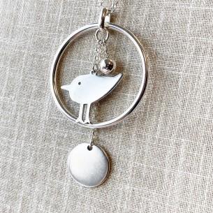 Pendentif oiseau minimaliste