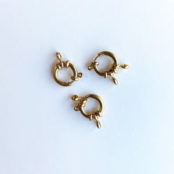 12 mm gold steel buoy clasp