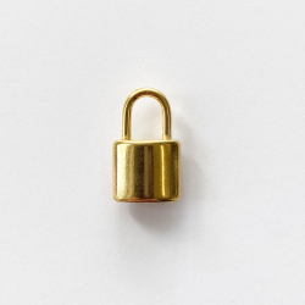 Golden steel padlock pendant