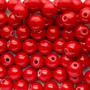 Piedra de roca de 4 mm reconstituida y teñida de rojo