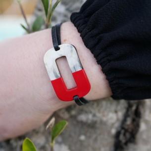 Bracelet avec pièce rectangulaire
