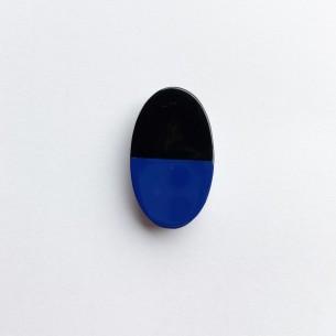 Pièce en corne rectangulaire à coller sur bague (noire et couleurs au choix)