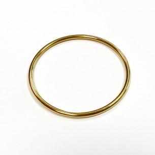 Golden steel bangle