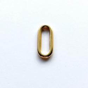 Espaciador dorado ovalado (24 x 10 mm)