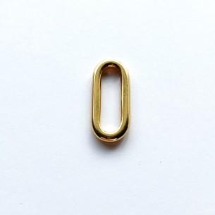 Intercalaire doré ovale (24 x 10 mm)