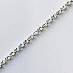 Very thin rolo chains 3.5mm silver plated