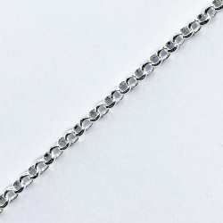 Round links chain chains silver plated