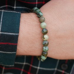 8mm single semi-precious pearl bracelet
