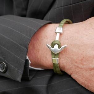 Bracelet ancre monté sur cordon