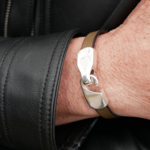 Bracelet cuir crochet 10mm