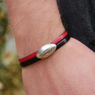Bracelet cuir équipe de rugby