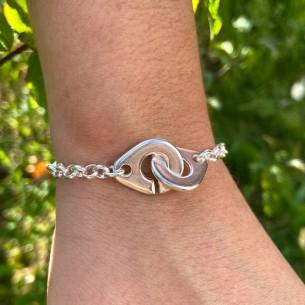Bracelet menottes maxi