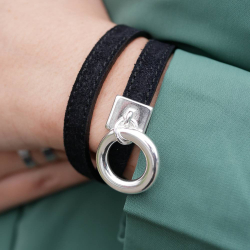 Leather bracelet and personalized charm