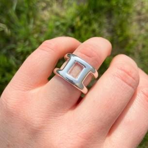anillo Calypso plateado