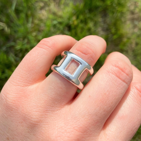 silver plated Calypso ring