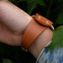 Black leather band for bracelet