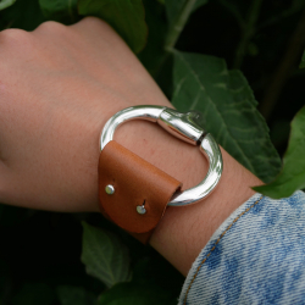 Lanière pour bracelet marron