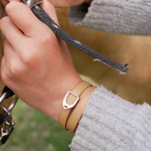 Steigbügel-Schieberegler für Leder 10mm.