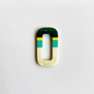 Colgante mini cuerno circular multicolor