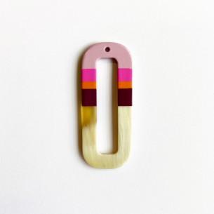 Pendentif corne mini cercle multicolore