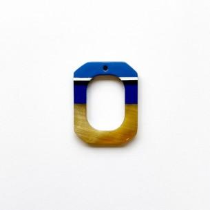 Mini colgante cuerno rectangular multicolor