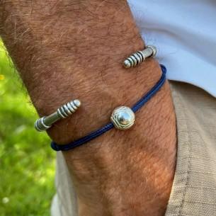 Perla 10 mm bola de petanca plateada de 10 micras vendido por 10