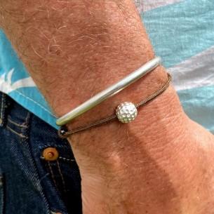 Perle 10 mm balle de golf plaquée argent 10 microns vendu par 10