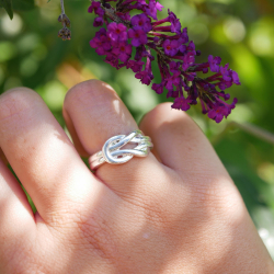 silver plated Hezé H ring