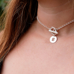 Number pastille toggle necklace
