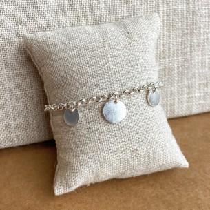 "Bracelet ""Sun"" round pastilles and chain"