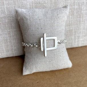 Bracelet toggle géométrique
