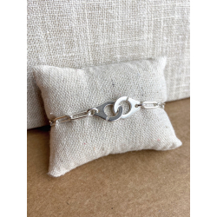 Bracelet menottes chaîne trombone