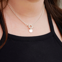 """""""Rose"""" necklace with buoy clasp"""