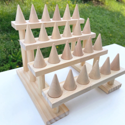 Rings wooden display stand / 24 rings